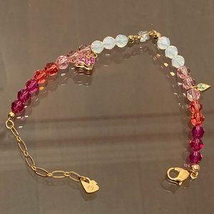 Swarovski Noisette Raspberry Bracelet